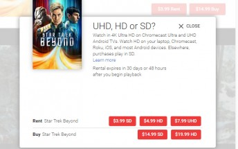 4K videos are now officially available in Google Play Movies