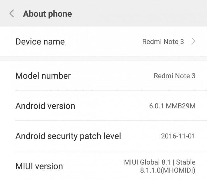Redmi Note 3 gets Marshmallow update - GSMArena com news