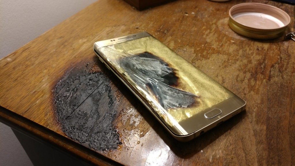 Reddit user's Samsung Galaxy S6 edge+ catches fire - GSMArena com news