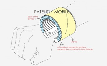 Samsung files two new smartwatch patents, one featuring a foldable display