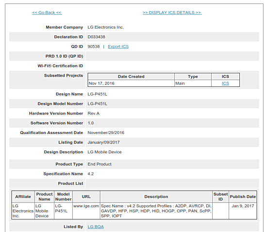 Mysterious LG-P451L tablet spotted on Bluetooth and Wi-Fi