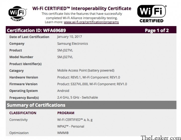 Samsung Galaxy J3 (2017) is now Wi-Fi certified and inching towards