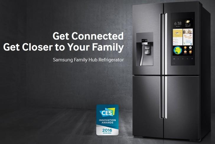 samsung introduces new family hub 2 0 refrigerator line at ces gsmarena blog. Black Bedroom Furniture Sets. Home Design Ideas