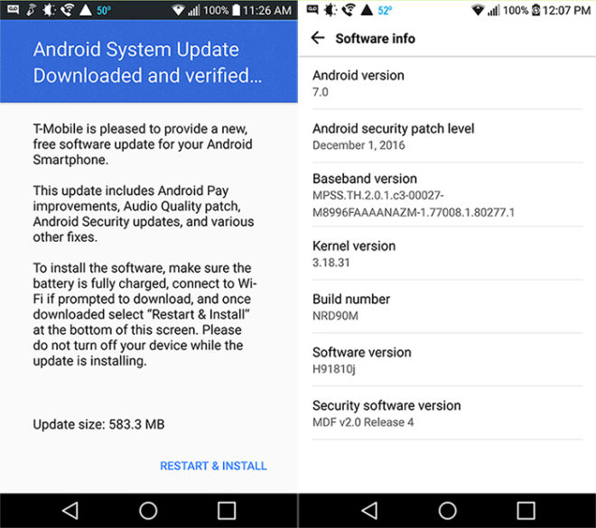 New T-Mobile LG V20 update brings December security patch - GSMArena