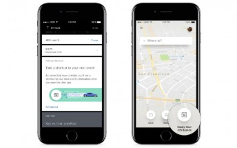 Uber's calendar shortcuts let you choose the location of your next meeting as the destination