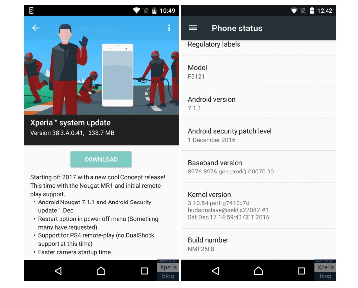 Sony Xperia X Becomes The First Non-Google Smartphone To Get Android 7.1.1 Nougat