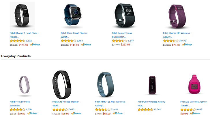 Fitbit fitness trackers now available at discounted rates