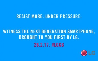 LG G6 water and dust resistance confirmed by new teaser