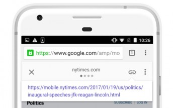 Google makes it easier to share original URL in AMP links