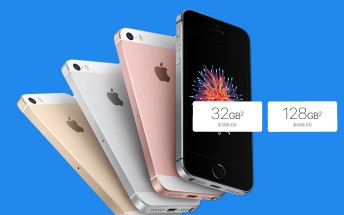 Apple doubles the iPhone SE storage to 32GB/128GB