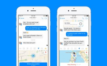 Facebook Messenger now has live location sharing too