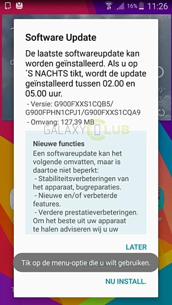 Samsung Galaxy S5 receiving new security update - GSMArena