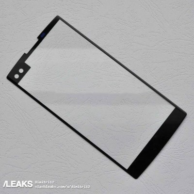 (Alleged) LG V30 front panel with holes for a dual selfie camera