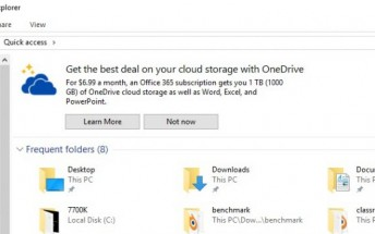 Microsoft thinks it's a good idea to put ads in your Windows 10 File Explorer