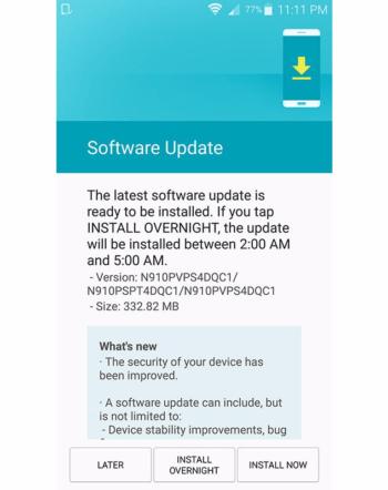 Samsung Galaxy Note 4 on Sprint gets an update - GSMArena com news