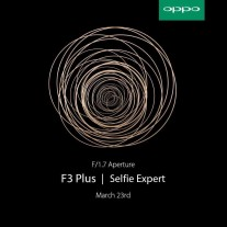 Oppo F3 Plus teasers