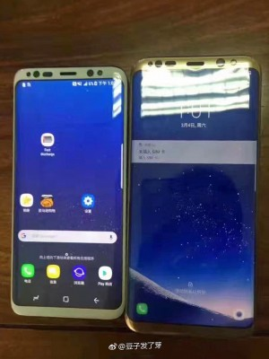 Samsung Galaxy S8 and Galaxy S8+ side by side