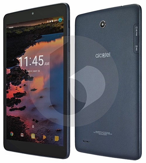 Alcatel A30 tablet with 8-inch display and Android Nougat