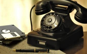 Counterclockwise: phone storage through the years