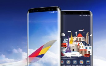 Galaxy S8 and S8+ Asiana Airlines can be bought with frequent flier miles and cash