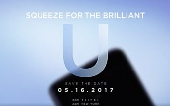 HTC U flagship to be officially unveiled on May 16
