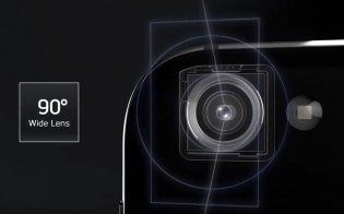 Left: Wide-angle lens, Right: 5.3-inch display