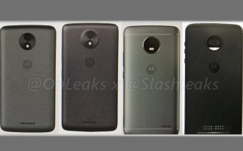 Press renders for the Moto C, C Plus, E4, and Z2 all leak