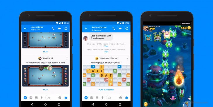 Instant Games on Facebook Messenger are now available