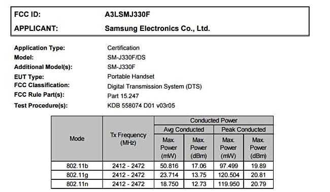 Samsung Galaxy J3 (2017) gets FCC certified - GSMArena.com news
