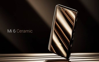 Xiaomi Mi 6 Ceramic Edition finally goes on sale tomorrow, priced at $435