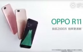 Oppo R11 leaks in a TV commercial