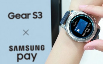 Gear S3 gets support for Samsung Pay; service hits the UK on May 16