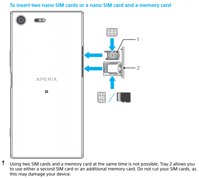 User Manual Confirms Sony Xperia Xz Premium Dual Features Hybrid Sim