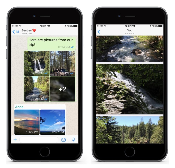 WhatsApp for iOS now does photo filters, albums, and reply