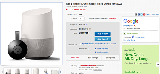 A Quick Look At The Speakeru0027s US Google Store Listing Reveals The Device Is  Being Sold For $99.99. So Essentially, The EBay Deal Nets You A Free  Second Gen ...