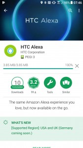 Install HTC Alexa on your HTC U11 from the Google Play Store