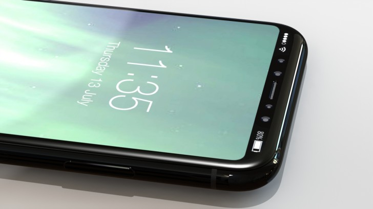 New iphone 8 leaked renders allegedly show finalized design how ios 11 will accommodate the cutout at the top of the screen where the selfie camera and various sensors reside is another uncertain thing at the stopboris Gallery
