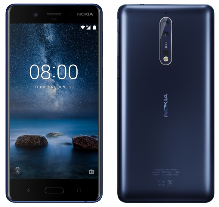 Nokia 8 leaks in all its glory press renders and specs outed as you can see from the press renders above theres a dual camera setup on the back complete with zeiss branding each sensor will have 13 mp resolution stopboris Images