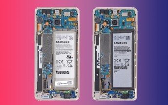 Samsung Galaxy Note FE shows its smaller battery in a teardown