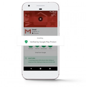 Google Play Protect guards against malicious apps