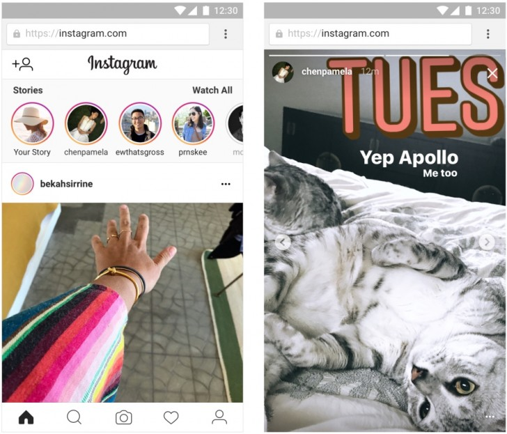 Instagram Stories now available on mobile web - GSMArena com news