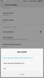 Age & gender Settings