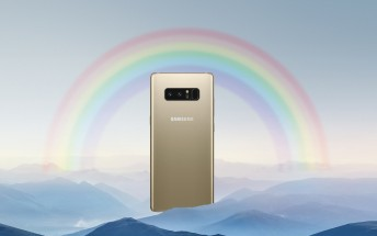 Samsung Galaxy Note8 color options leak, as do some of its wallpapers