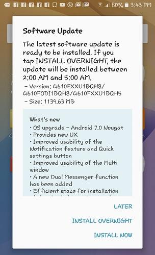 Samsung Galaxy On Nxt gets Nougat update - GSMArena com news