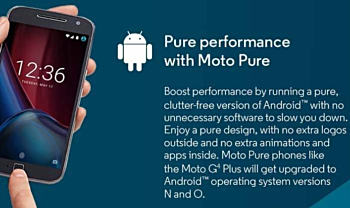 e3a87838586250 Here's the first proof - on left is part of the original Moto G4 poster  promising both Android N and O updates, and on the right is the updated  poster, ...
