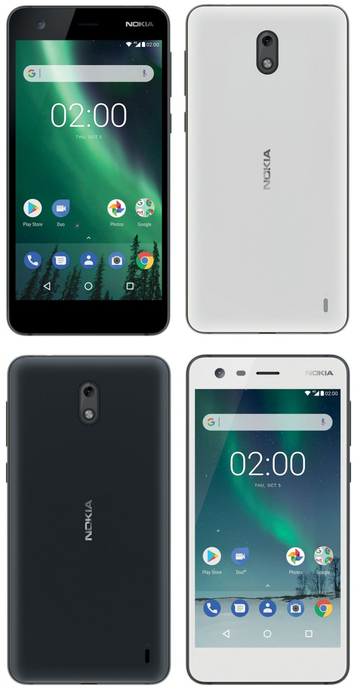 nokia 2 leaked press renders show us black and white color. Black Bedroom Furniture Sets. Home Design Ideas