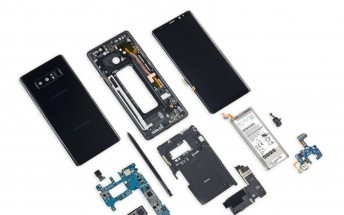 Galaxy Note8 teardown reveals modular but tough to get to components