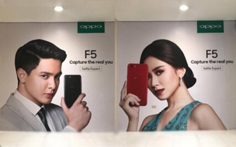 Oppo F5 appears on posters in the Philippines