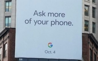 Billboard suggests October 4 unveiling for Google Pixel 2