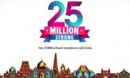 Xiaomi surpasses 25 million smartphone sales in India
